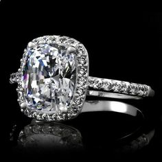 Ameries 2.5 Carat Engagement Ring - Cushion Cut....I can just hope this is seen by my future husband.