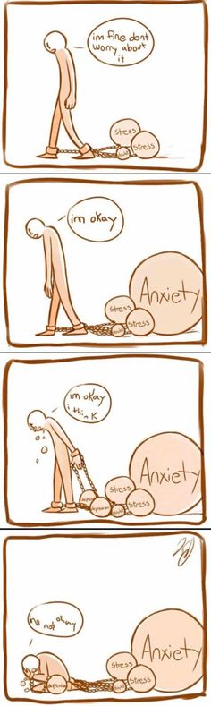 The truth behind ok: in my case depression should be where anxiety is, and anxiety should be where depression is Depression Quotes, Im Not Okay, Stress And Anxiety, Anxiety Help, How I Feel, Sad Quotes, Qoutes, In My Feelings, Comics