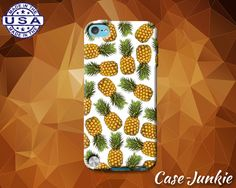 White Pineapple Pattern Fruit Tumblr Summer Inspired Cute Case For iPod Touch 4th Generation or iPod Touch 5th Gen or iPod Touch 6th Gen
