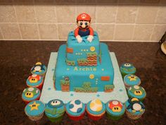 Mario cake---my boys would love this!!
