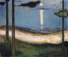Edvard Munch (Norwegian, 1863–1944): Moon Light, 1895. Oil on canvas, 93 x 110 cm. The National Museum of Art, Architecture and Design - The National Gallery, Oslo, Norway.