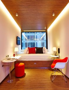 Citizen M hotel room via NY Times. Compact. Sleepable?