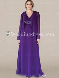 Chiffon V-Neck Mother of the Bride Dress MO211 There are a lot of colors to choose from.