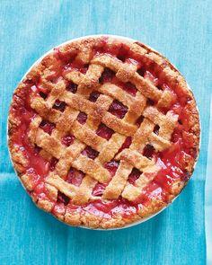 Rhubarb-Strawberry Lattice Pie Recipe