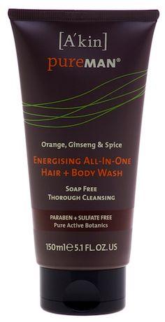 A'kin PureMAN Energising All in One Hair & Body Wash