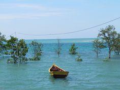 High tide in Sematan, Borneo