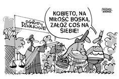 Wygnanie z raju...  Rysunkowy komentarz Jerzego Krzętowskiego.