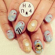 ☆ Summer nails ☆ | shell | instagram : Hana4