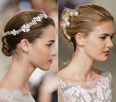 Calling All Brides-to-Be! Get Inspired By the Prettiest Updos From Bridal Fashion Week - Carolina Herrera from #InStyle