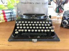 Your place to buy and sell all things handmade Working Typewriter, Typewriter For Sale, Antique Typewriter, Portable Typewriter, Writing Machine, Wedding Props, Red Ribbon, New Model, High Gloss