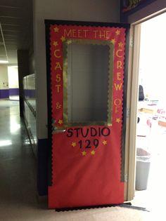 Hollywood/movie themed classroom door decoration.
