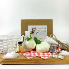 Deluxe DIY Cheese Making Kit (make mozzarella, ricotta, colby, gouda, and monterey jack)