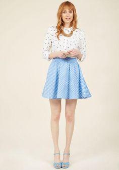 #ModCloth - #Compania Fantastica Compania Fantastica The Retro Remedy Mini Skirt in S - AdoreWe.com