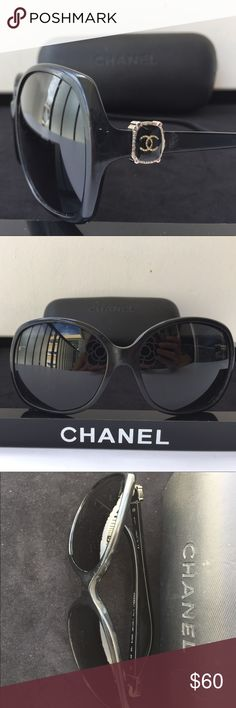 Authentic Chanel Sunglasses 5174 (pre-owned) Oversized style, Scratches on the lenses, discolor on the frames, missing right side the cover on the logo, that's why lower price to sell😂 please see pictures for details. Come with Chanel case (scratches on the case)😂 CHANEL Accessories Sunglasses