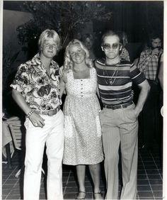 Elton John and friends at the JOHN GARDNIER'S TENNIS CLUB in Scottsdale, Arizona where I met him, 1975. - Kimberley Ashley