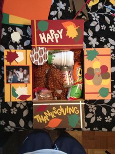 Okay so I am attempting to send thanksgiving in a box.  I made some things in jars and it takes up a lot of room which is why the list of stuff I put in it is a lot smaller than usual haha but here is what is in it.  -Turkey Jerky (to substitute for Turkey of course)-Hot Cheetoes with Lime (he wanted them and said he would rather have them than stuffing haha)-Instant Mashed Potatoes-Turkey Gravy-Craisins (gotta substitute for Cranberries)-Apple Cider (the big container from target)-Hot…