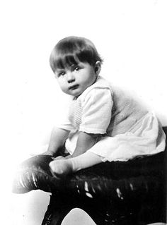 Rita Hayworth, born Margarita Cansino, in a studio photograph at nine months old, 1919