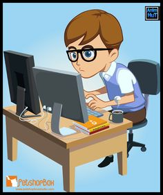 Download The Programmer Kid Vector format