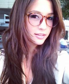 Girl With Glasses Long Black Hair