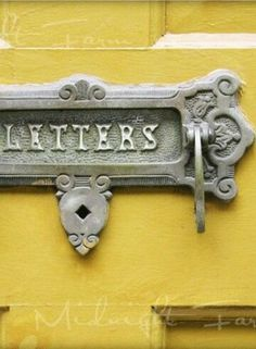 Items similar to Yellow Letters Original Fine Art Photograph Print on Etsy Knobs And Knockers, Door Knobs, Door Handles, Mellow Yellow, Grey Yellow, Color Yellow, Forno A Gas, Wedding Decor, Art Nouveau
