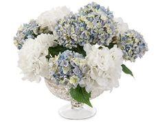 John Richard Traditional Fresh Water Look Blue Hydrangeas Decorative Floral Arrangement