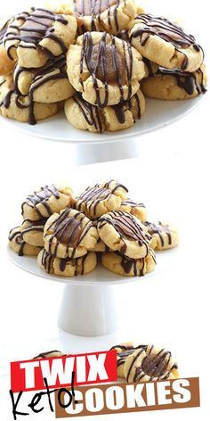 These tender keto shortbread cookies are filled with delectable sugar-free caramel and drizzled with dark chocolate. Like your favorite candy bar ketofied! Low carb and sugar-free. Keto Cookies, Twix Cookies, Caramel Cookies, Shortbread Cookies, Twix Cupcakes, Keto Friendly Desserts, Low Carb Desserts, Dessert Recipes, Keto Recipes