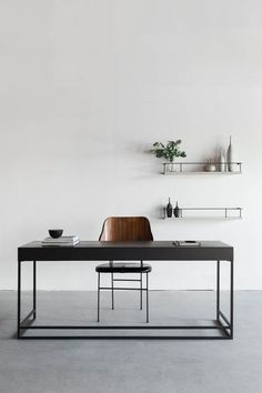"""68""""W + 24""""D + 29""""H INDUSTRIAL STEEL + BIRCH POLY FINISH //CUSTOMIZE THIS PIECE This Desk is Custom Made in Los Angeles. Hand crafted wood substrate, welded steel sheered to size. Push release drawers"""