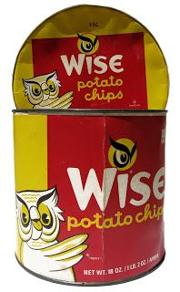 Vintage Wise Potato Chips Box  (I had hoped to find an old Red Dot bag.  They were so good!  And then they were taken over by Frito-Lay.)