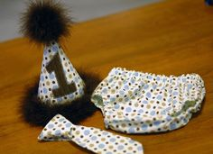 party hats for boys | Boys Birthday Party Hat Diaper Cover and Tie by freshsqueezedbaby, $45 ...