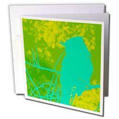 Teal Blue Bird by Angelandspot Greeting Card