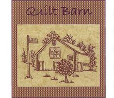 Quilt Barns Star - Redwork Hand Embroidery Pattern - by Beth Ritter - Instant Digital Download via Etsy