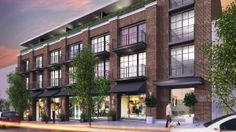 The Oxford is a beautiful brick building with 38 condos and it's coming to East Vancouver - BuzzBuzzHome News Office Building Architecture, Brick Architecture, Building Exterior, Building Facade, Infrastructure Architecture, Chinese Architecture, Futuristic Architecture, Classical Architecture, Mix Use Building