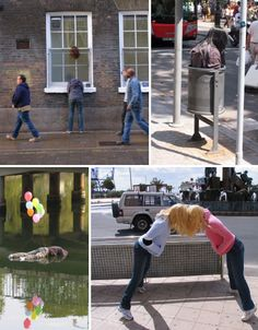 Surreal Scenes by Mark Jenkins Street artist Mark Jenkins is renowned for baffling and disturbing installations of headless