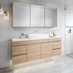 Timberline Bargo Wall Hung Vanity - with Silksurface Top & Basin - The Blue Space Bathroom Vanity Designs, Bathroom Basin, Bathroom Renos, Modern Bathroom Design, Bathroom Interior Design, Bathroom Renovations, Bathroom Furniture, Small Bathroom, Bathroom Ideas
