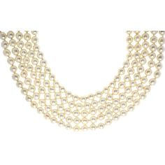 Pre-owned Chanel Vintage Multi-Strand Faux Pearl Choker (127.210 RUB) ❤ liked on Polyvore featuring jewelry, necklaces, ivory, chanel jewelry, ivory jewelry, pre owned jewelry, faux pearl choker necklace and multi strand necklace