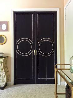 DIY/Upcycle Shutter Doors turned Chic Doors - Domicile 37