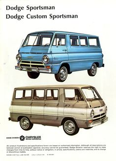 Classic Dodge Vans. My family had a blue van until I was about 10 years old. I loved that car!