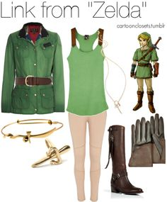 "Inspired by Link from ""The Legend of Zelda"" (August 2012) ▲▲▲ Geek fashion or casual cosplay for the Zelda fan girls! Our champion is cumulating more than 600 actions thanks to its Best-Of appearance!"