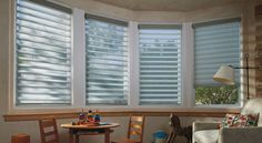 """Silhouette window shadings: Hunter Douglas Window Treatments- Ready to order these but I took Jim to Ethan Allen and he kind of likes the look of the 3"""" vein so wanted to talk to you about that"""