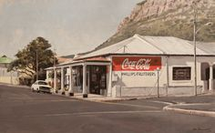 Phillips Fruiterers, Lakeside, 2012 Unique Paintings, Realistic Paintings, Port Elizabeth, Small Towns, Art Museum, Art Gallery, In This Moment, World, House Styles