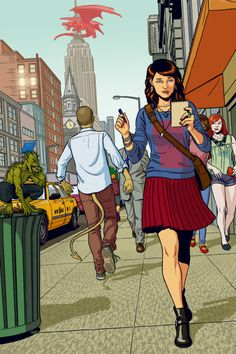 The Shambling Guide to New York City cover by Jamie McKelvie