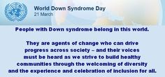 World Down Syndrome Day 2016 Down Syndrome People, Down Syndrome Day, Agent Of Change, Awareness Campaign, In This World