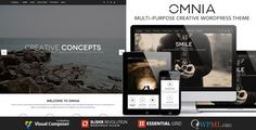 OMNIA - Multipurpose, Creative WordPress Theme . OMNIA is a stunning and professional BIG Agency wordpress theme perfect showcasing your creative work. Perfect for creatives, freelancers, web designers, photographers, artists, fashion and music, we have created some stunning ready to go pages for you to launch your site with