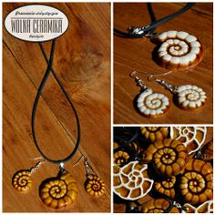 Ammonite necklace -brown version.
