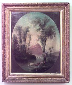 English Victorian picture landscape oil
