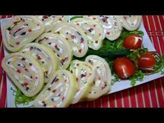 Aperitiv rapid ruladă de caşcaval varianta 2 - YouTube Cordon Bleu, Sushi, Ale, Sausage, Appetizers, Snacks, Meat, Ethnic Recipes, Youtube