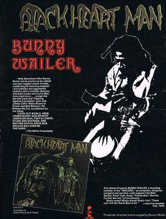 Bunny Wailer : Blackheart Man L.P. advert, 1976.