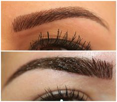 Fact: Thinning eyebrows add years to your age. Indeed, eyebrow loss is one of the very first signs of aging. This is why having sparse eyebrows doesn't look Contour Makeup, Eyebrow Makeup, Skin Makeup, Eyebrow Serum, Makeup Salon, Permanent Makeup Eyebrows, Semi Permanent Makeup, Permanent Tattoo, Perfect Eyebrows