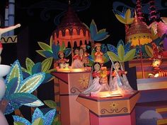 disney it's a small world ride - my favorite scene with the tiger and the umbrellas
