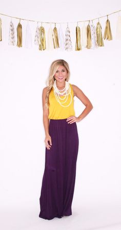 Southern Hostess In Purple and Gold $45.00
